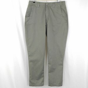 Mountain Khakis MK Army Green Pants 35x32